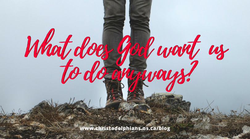 What does God want us to do anyways?